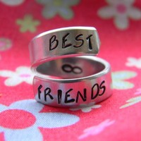 Best friends swirl aluminum ring