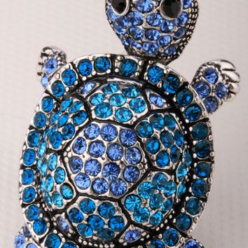 Shaky turtle tortoise stretch ring for women summer fashion jewelry