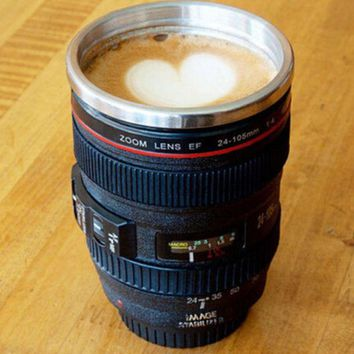 retro camera lens coffee mug free gift christmas gift random necklace  number 1