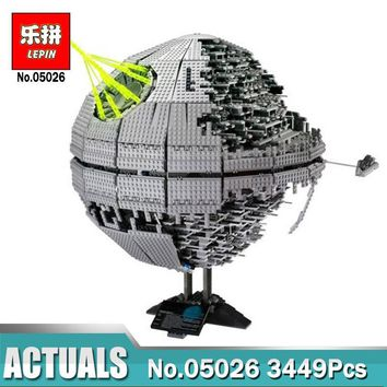 Star Wars Force Episode 1 2 3 4 5 Lepin  on  05035 05026 The Death  Building Block Set Compatible LegoINGlys 10143 10188 Children Educational Toys AT_72_6