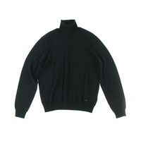Armani Collezioni Mens Wool Long Sleeves Turtleneck Sweater