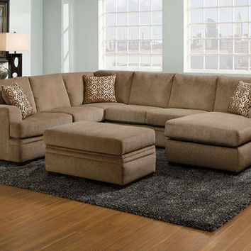 Platinum Cocoa 2 Pc. Sectional (reverse)