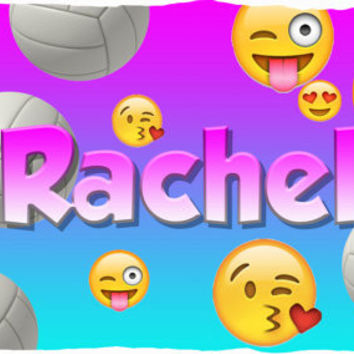 Personalized Volleyball Emoji Super Soft Pillow