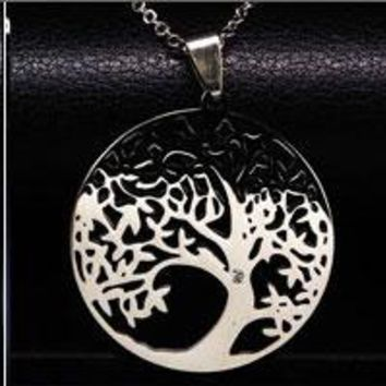 2017 Stainless Steel Tree of Life Necklaces And Pendant