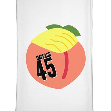 Impeach Peach Trump Flour Sack Dish Towel by TooLoud