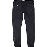 River Island MensNavy coated side stripe joggers