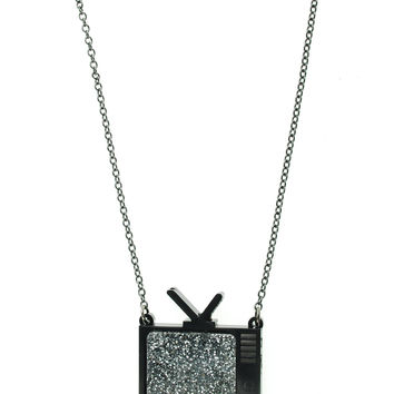 Sparkly TV Necklace