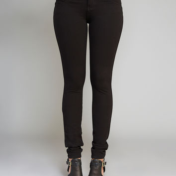 Blue Asphalt™ Moleton Booty Bustier Skinny Pants | Wet Seal