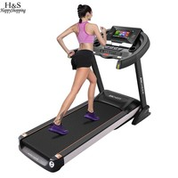 Motorized Treadmill Fitness Folding Electric Treadmill Exercise Equipment Walking Running Jogging Machine Gym Home LED Screen