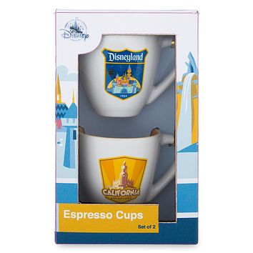 Disney Parks Disneyland Espresso Cups Set of 2 New with Box