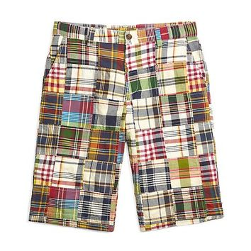 Patchwork Madras Shorts - Brooks Brothers