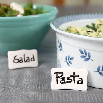 Evelots Place/Name Cards-Porcelain-Reusable-With Dry Erase Marker & Easel Back