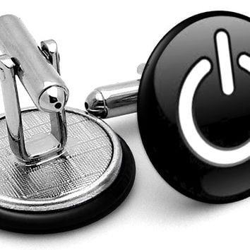 Apple Mac Power Button Black Cufflinks