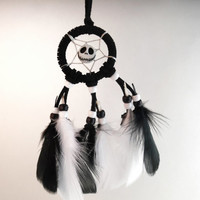 Nightmare before Christmas car dream catcher, small, black