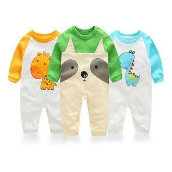 2016Autumn clothing newborn Baby Clothes Baby works One Pieces Baby Rompers Infant Boys Girls Long Sleeve Jumpsuits Clothing