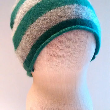 Soft baby hat, newborn, hospital, cashmere baby hat, recycled cashmere, preemie, recycled wool, baby gift, st. patricks day, green