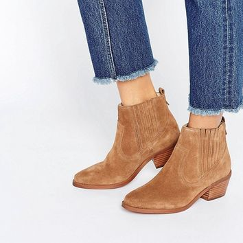 Dune Quiz Low Heel Boot at asos.com