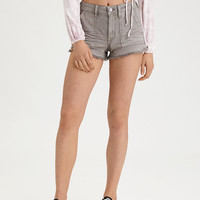AE High-Waisted Festival Denim Short, Gray