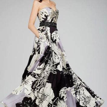 Jovani Long Print Dress 28729