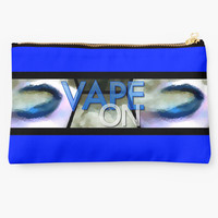 Blue Abstract Lips Vape On Banner by OCDesigns2