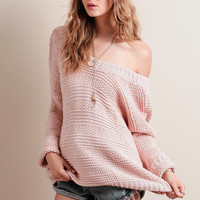 Dreamy Oversized Sweater In Pink