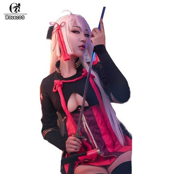 ROLECOS New Japanese Game Fate Grand Order Okita Souji Alter Cosplay Costume Devil Saber Evil Suits Cosplay Costumes