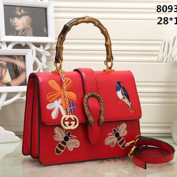 AUGUAU High quality replica GG brand women tote handbag with strong bamboo handle (comes with box + dustbag)