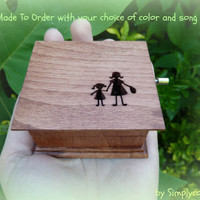 music box, musicbox, music boxes, gift for mom, mother and daughter, custom made music box, personalized music box, holiday gift idea