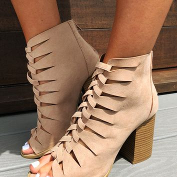 Build Me Up  Booties: Nude