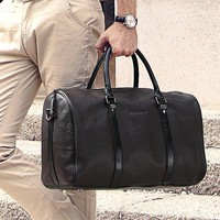 luggage Bags Luxury Natural genuine leather vintage
