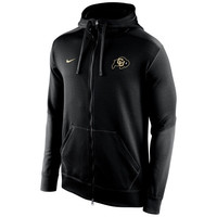 Colorado Buffaloes Nike KO Chain Fleece Full Zip Performance Hoodie – Black