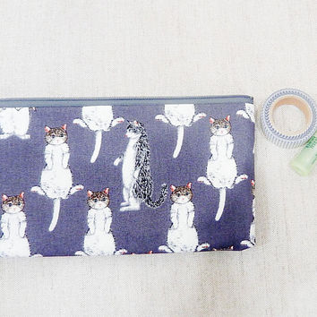 Cat Gift for Women/ Teacher Gifts/ Gift for Her/ Pencil Case/ Make Up Bag/ Best Friend Gift/ Cat Lover Gift/ Graduation Gift/ Birthday Gift
