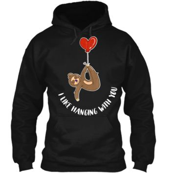 Valentine's Day Sloth Gift  Teenage Girls Couples Tween Pullover Hoodie 8 oz