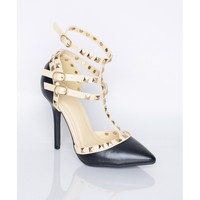 Studded Pointy Pumps