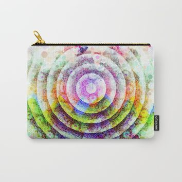 Colorful Circle Carry-All Pouch by Jeanette Rietz