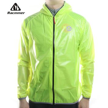 Racmmer MTB Long Cycling Jersey Flashlight  Waterproof Jacket Windproof Raincoat Bike Bicycle Compressed Clothes 4 Colors #DG-02