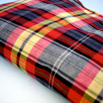 Vintage Destach Tartan Plaid Cotton cij  code: jp2012 for 15% off