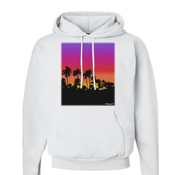 Palm Trees and Sunset Design Hoodie Sweatshirt  by TooLoud