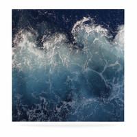 "Suzanne Carter ""Sea Spray"" Navy Ocean Luxe Square Panel"