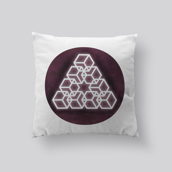 Throw Pillows for Couches / Glowing Triangle by RSKS Design