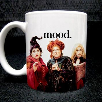 Halloween Themed Mug - Hocus Pocus Mood - Color Accent Mug - 11oz or 15oz