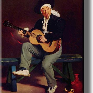 Spanish Singer Guitar Player Picture on Acrylic , Wall Art Décor, Ready to Hang!
