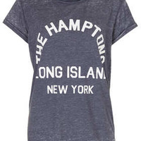 Hamptons Burnout Tee - Blue