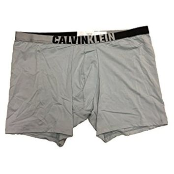 Calvin Klein Graphic ID Micro Boxer Brief, Blue Grey