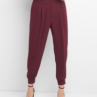 Crepe pleated joggers | Gap