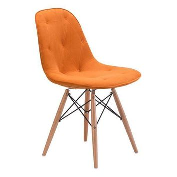 Probability Dining Chair Orange Wood