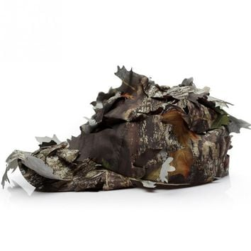 new Outdoor Woodland 3D Leaf Camouflage Camo Jungle Hunting Sunshade Pretend Army Helmet Hat Climbing Cap