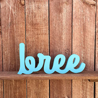 Custom Wooden Name Sign - Nursery - Baby Name - Wedding - Shower Gift - Personalized Cursive Name - Hand-cut