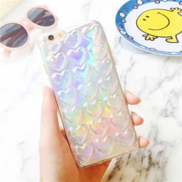 HOLOGRAPHIC HEARTS CASE
