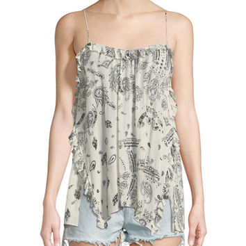 Iro Andel Paperbag-Waist Denim Shorts and Matching Items